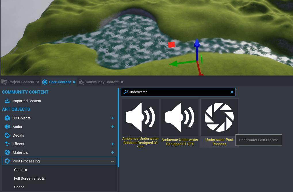 Find Underwater Post Process