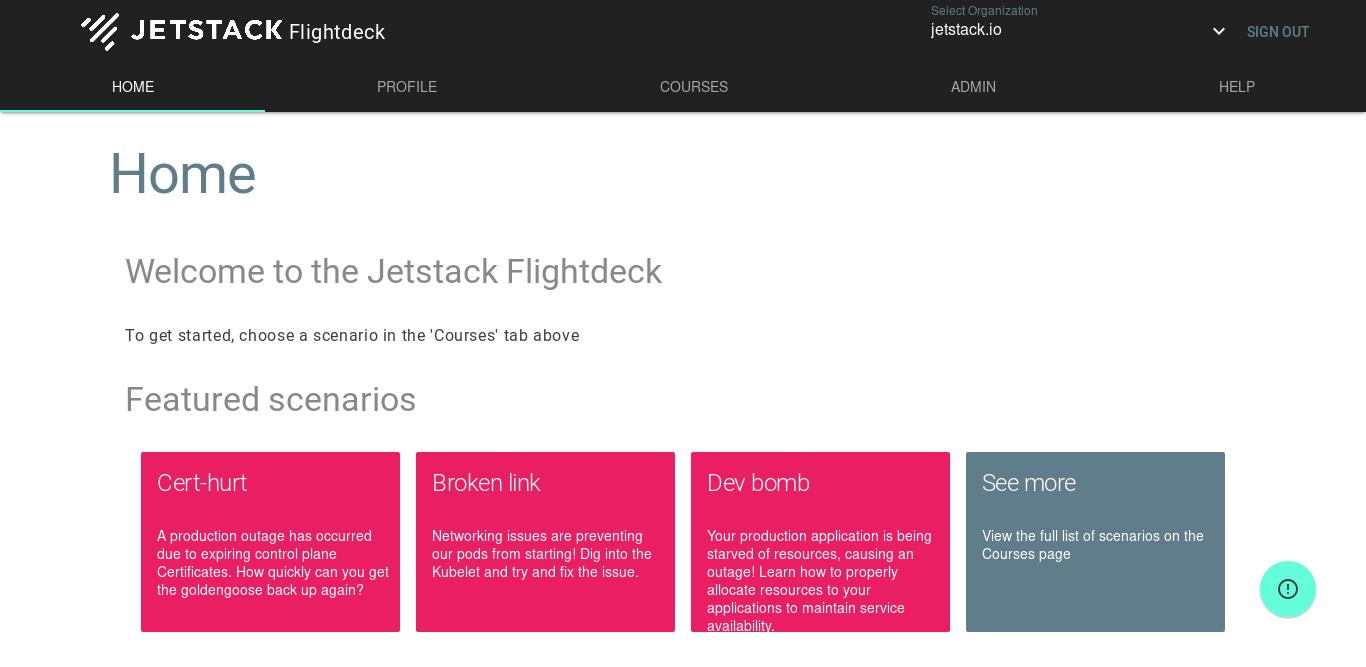 Jetstack Flightdeck