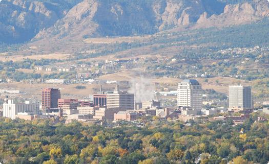 Colorado Springs, Colorado Skyline