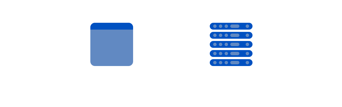 Simply a browser talking to a server