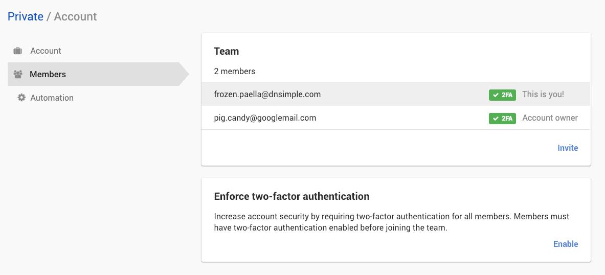Two-Factor authentication enforcement