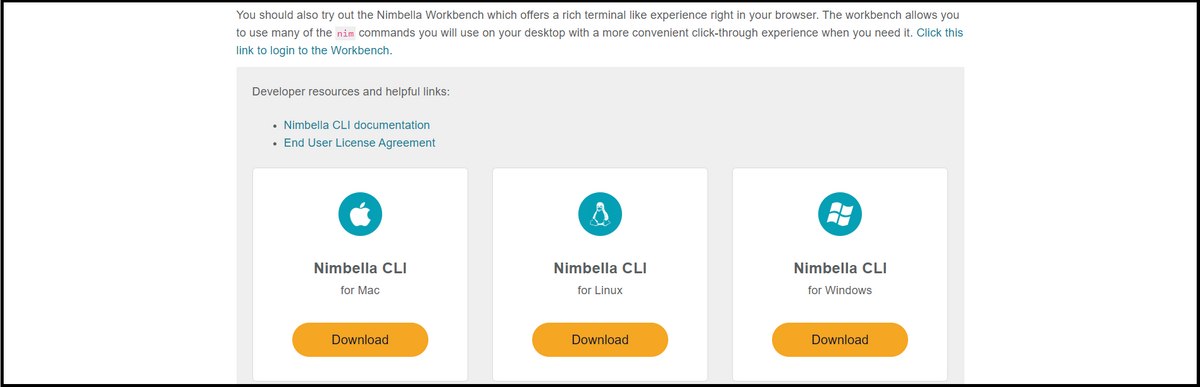 download Nimbella Command Line Interface