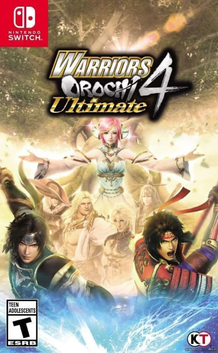 The boxart for Warriors Orochi 4 Ultimate for the Switch