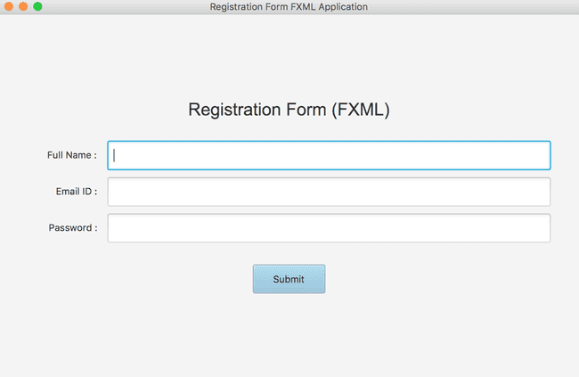 Creating JavaFX user interfaces using FXML