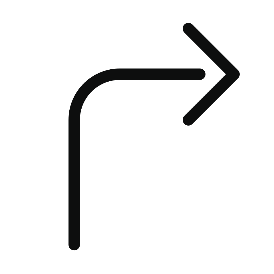 Arrow bend right