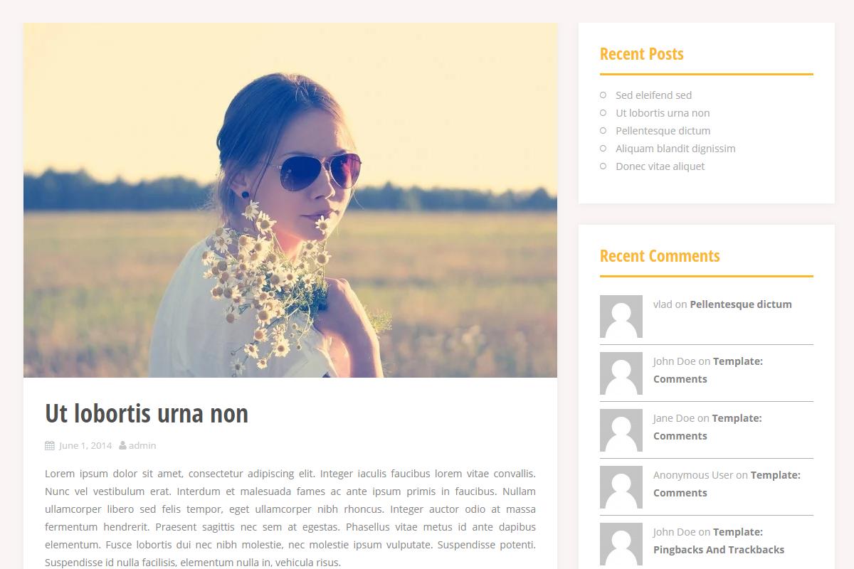 Screenshot for Theme Alizee