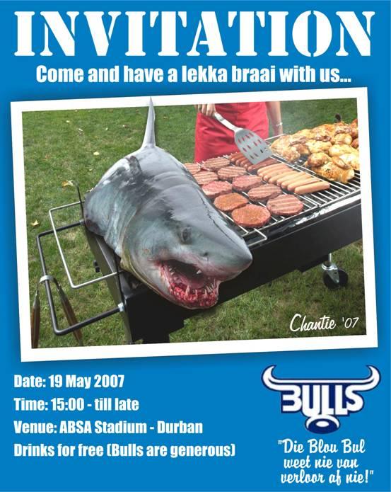 Invitation to The Bull's Braai