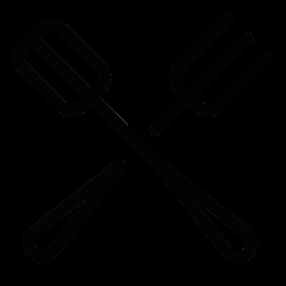 Food utensils spatula fork