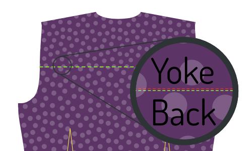 Edge-stitch the yoke
