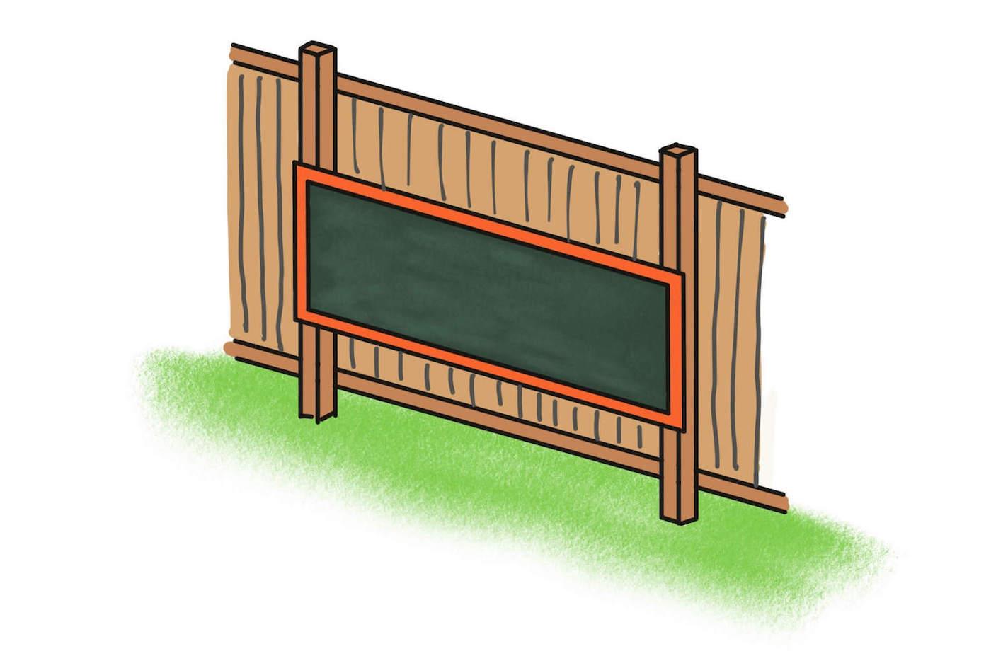 Outdoor chalkboard
