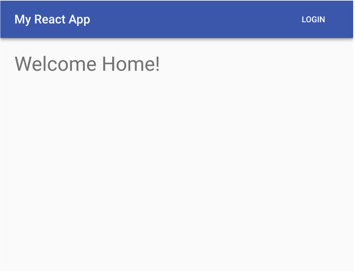 homepage with login button