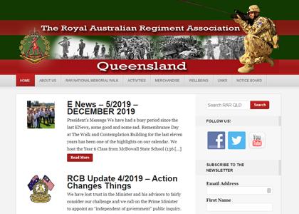 RAR QLD Website Screenshot