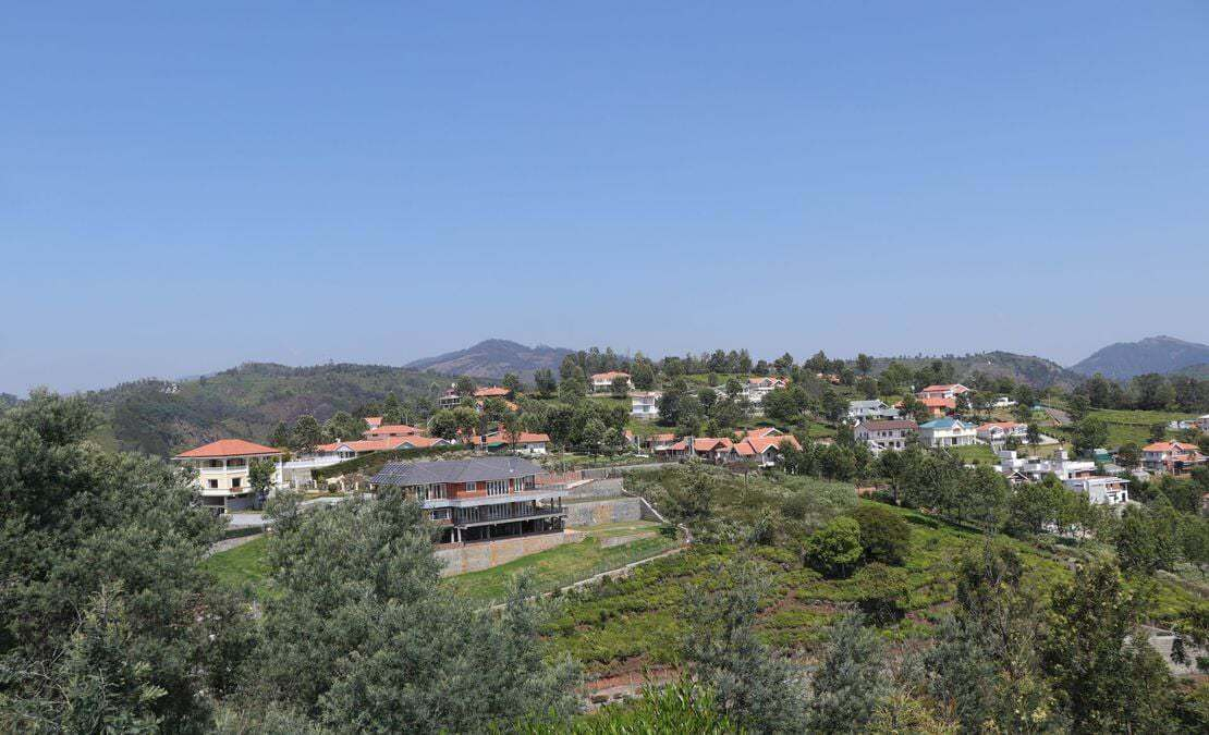 View of Drumella Phase 1 gated community Coonoor