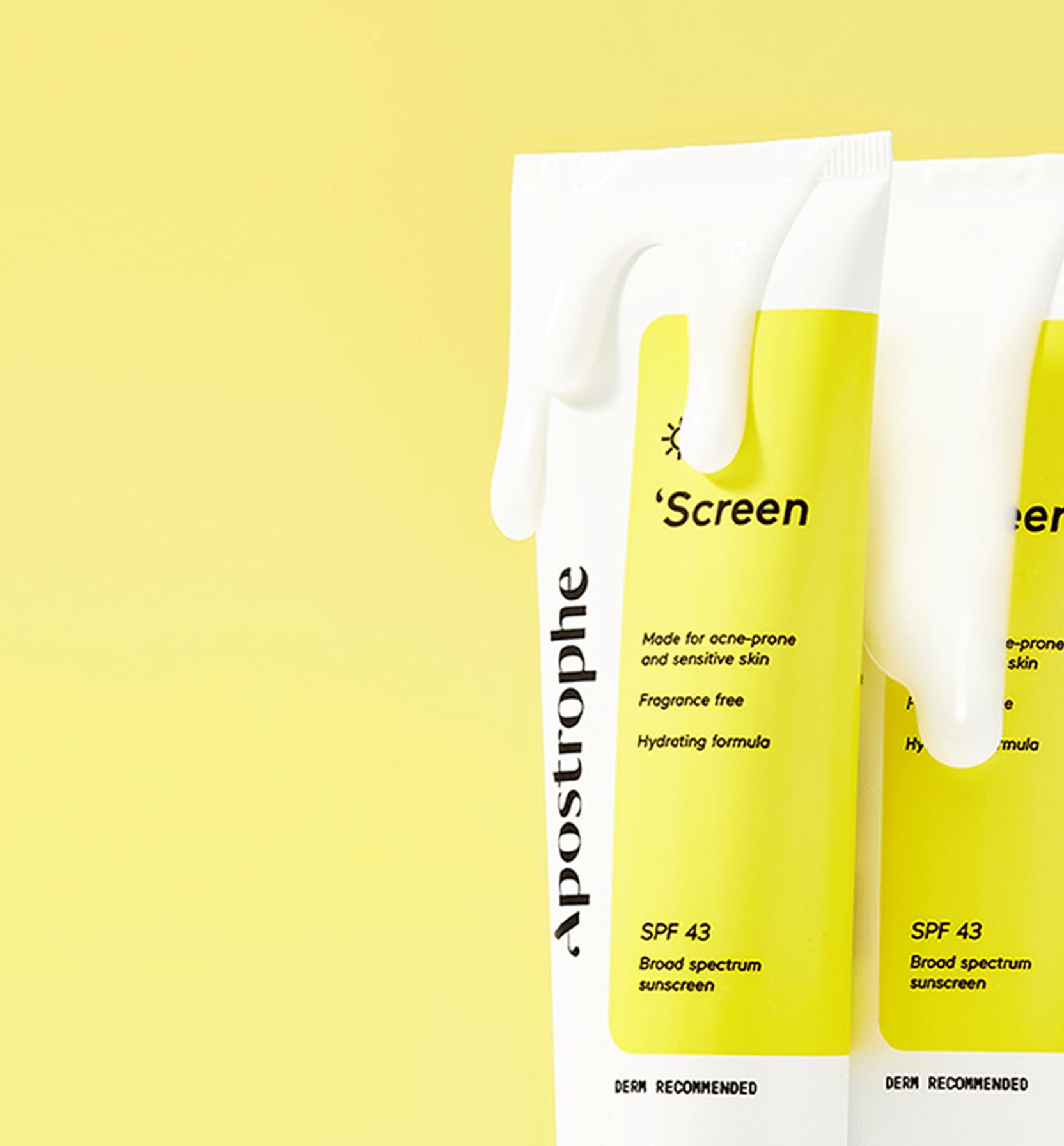 Apostrophe 'Screen sunscreen for sensitive and acne-prone skin