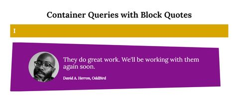 blockquote with magenta background and polygonal clip-path