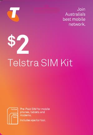 Telstra Pre-Paid SIM Card