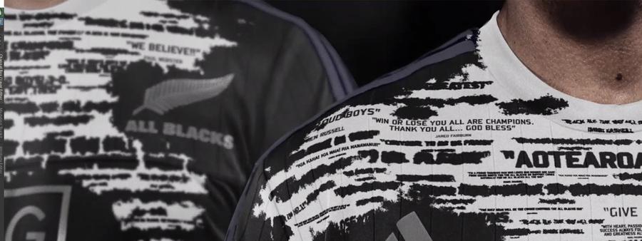 All Blacks Ad still of two men wearing All blacks shirts