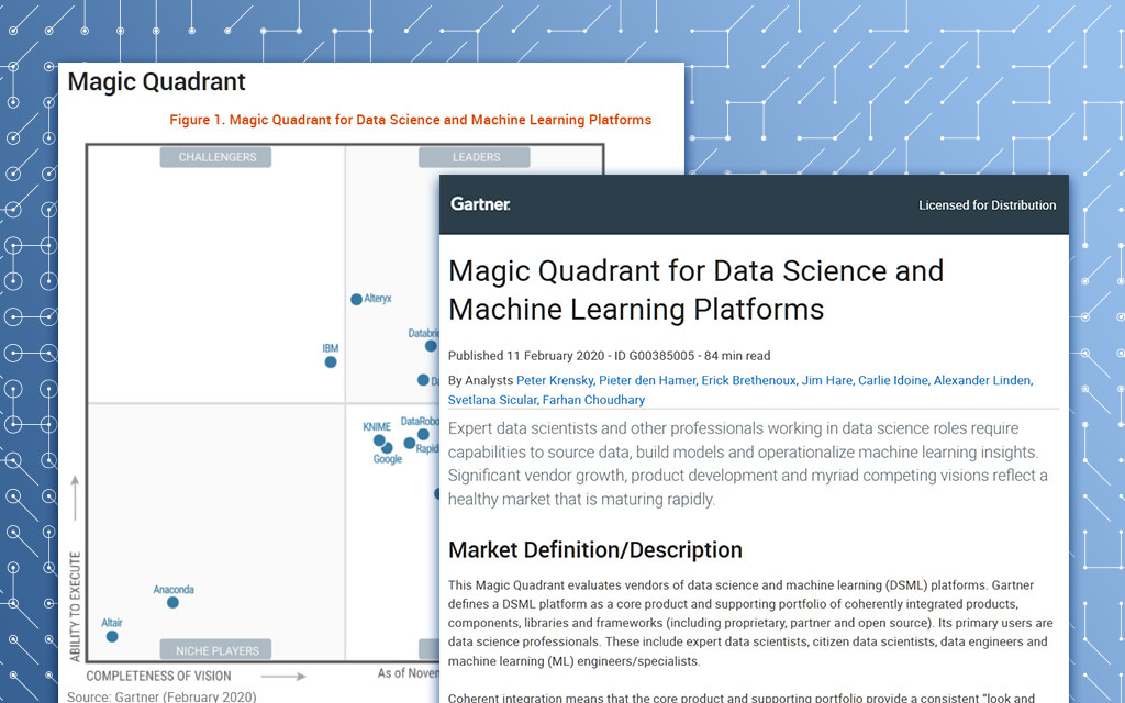 2020 Gartner Magic Quadrant for Data Science and Machine Learning Platforms
