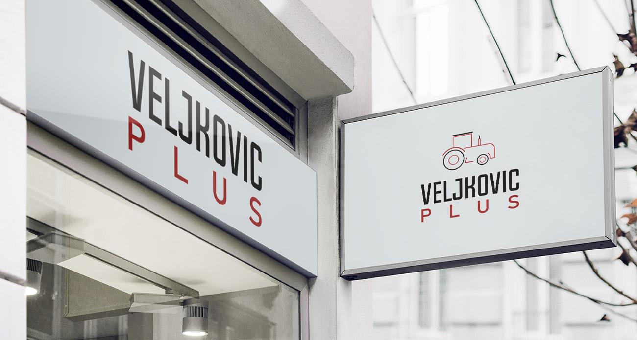 Veljkovic plus Logo Design Mockup