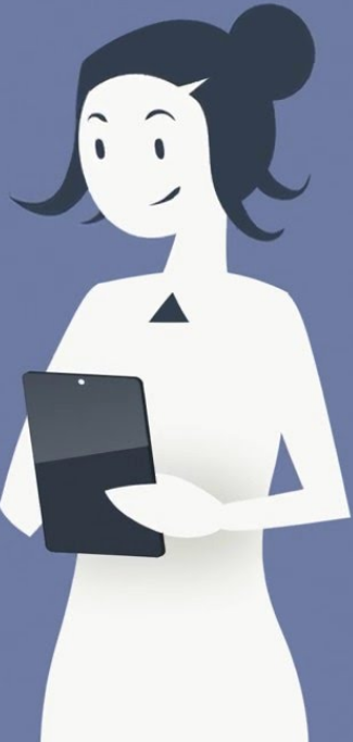 Woman on iPad