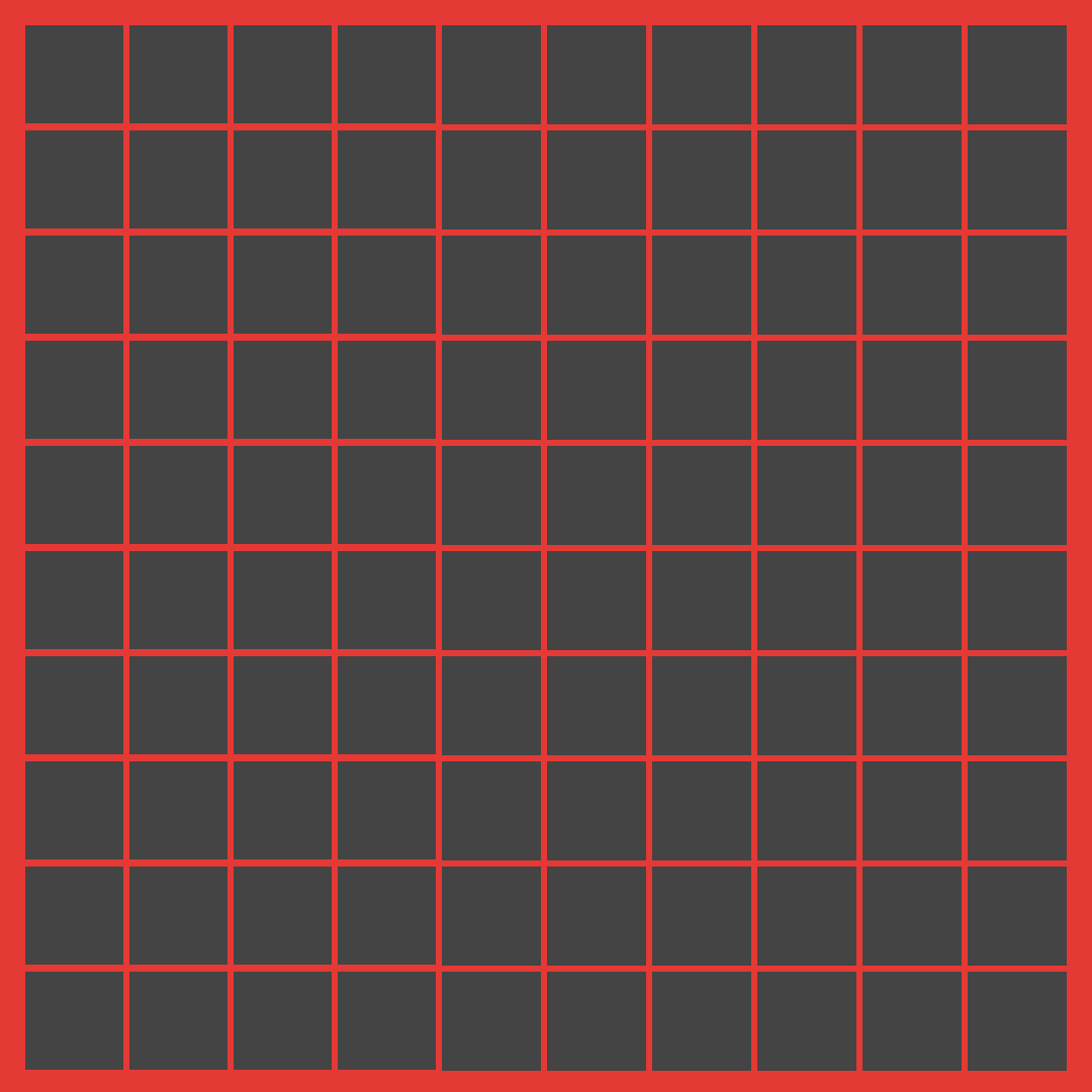 A grid of dark squares