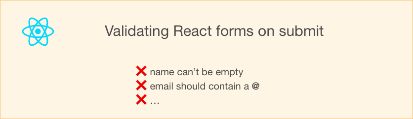 Validating a React form upon submit