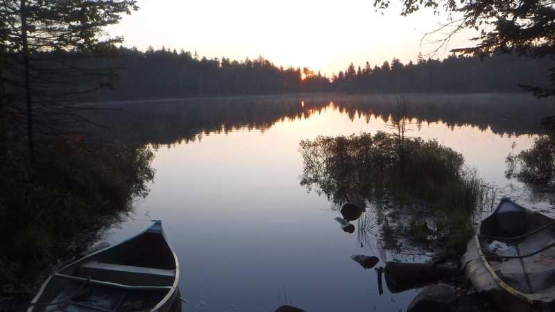 Sunrise at Little Swift River Pond
