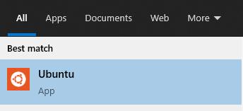 Ubuntu on Windows Start Menu