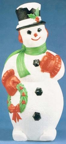 Snowman With Wreath photo