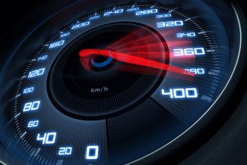 Speedometer at high speed