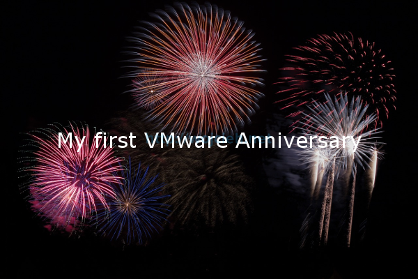 My first VMware Anniversary - Logo