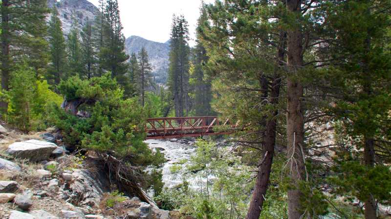 A bridge over the South Fork of San Joaquin River