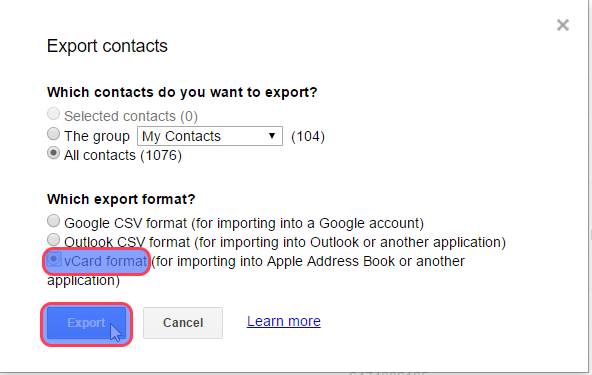 How to transfer Google contacts to iCloud - Covve