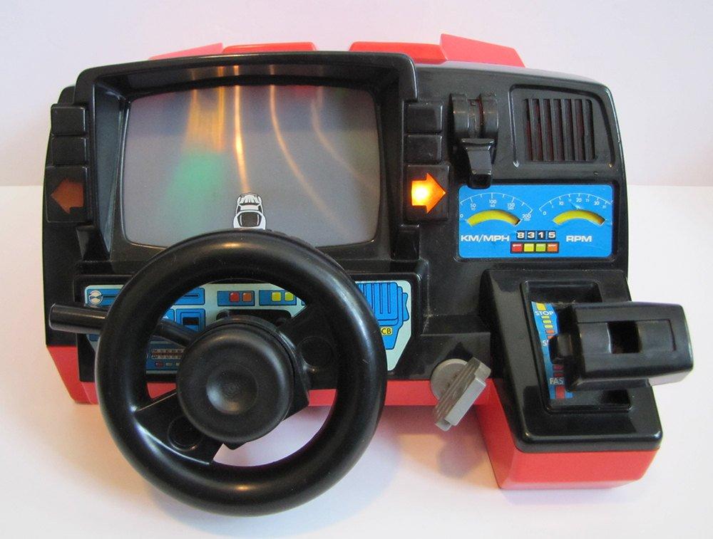 """Simulador"" de corrida da década de 80"