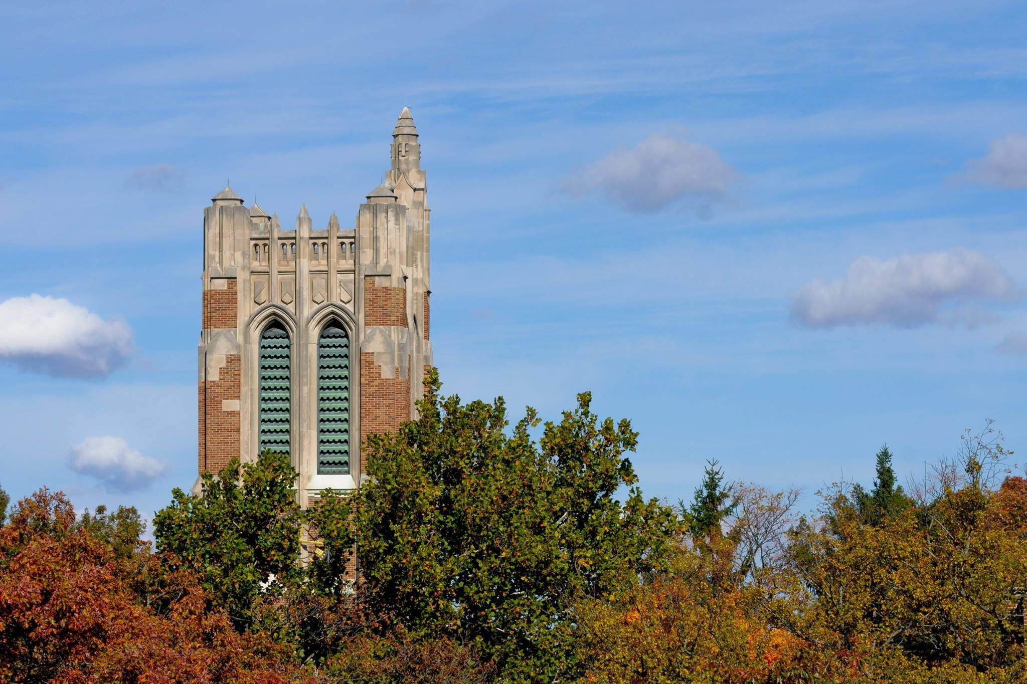 Top of the clock tower at Michigan State University