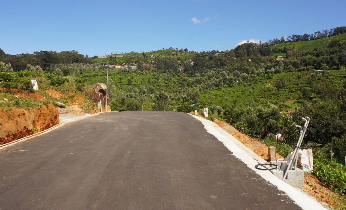 Roads complete with Strata Geoweb cells at this project in Coonoor