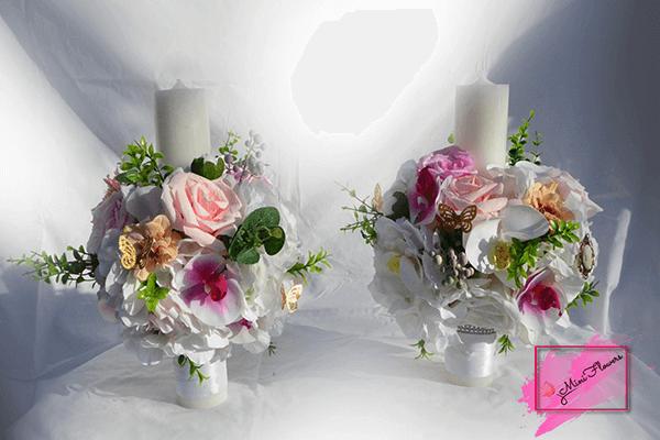Lumanari nunta - botez - Mini Flowers