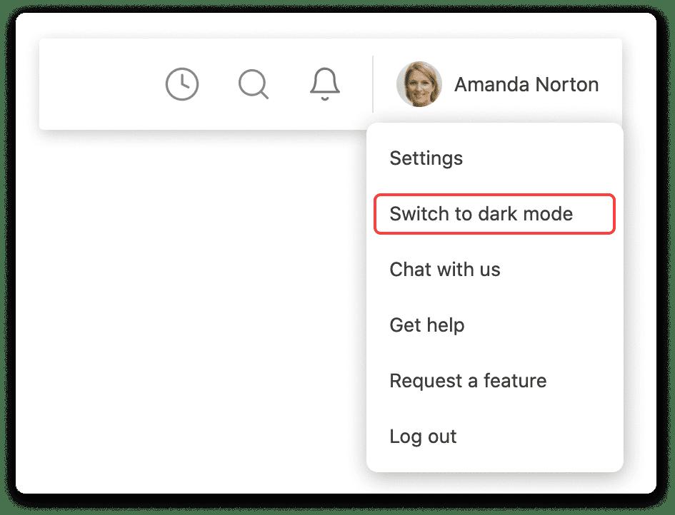 Switch to dark mode