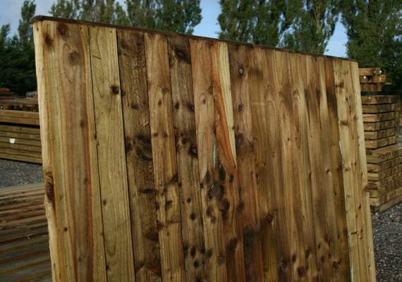 Timber post and panel fencing