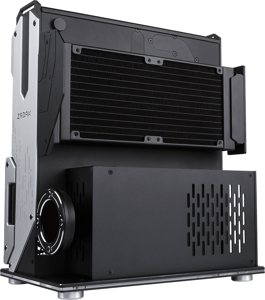 The New Zadak MOAB II ELITE PC Case features an in-built water-cooling system and Touch power switch