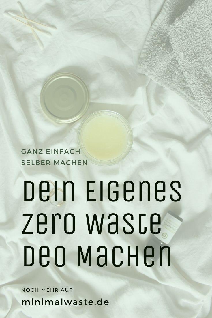 Pinterest Cover zu 'Zero Waste Deodorant: Deo einfach selber machen'