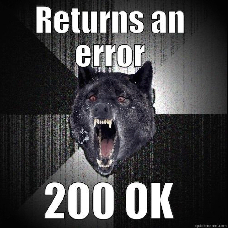 Insanity wolf hates errors on a 200