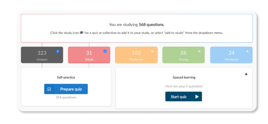 Spaced learning on the Synap platform