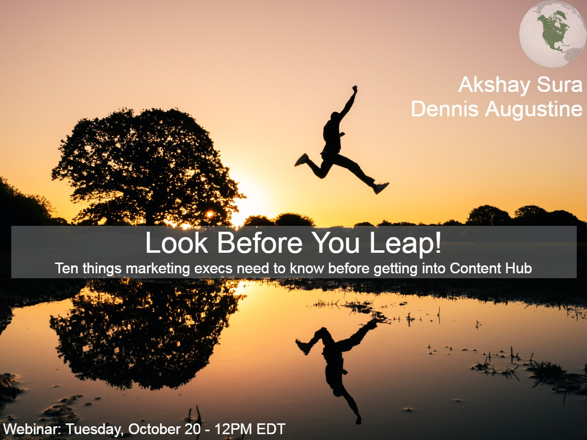 Look Before You Leap! - North America Region - Webinar