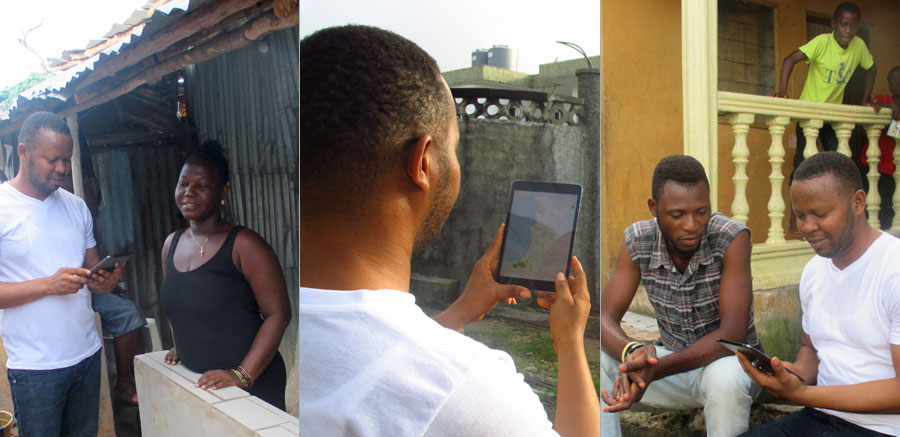 NestBuilders field staff conducting interviews in Sierra Leone