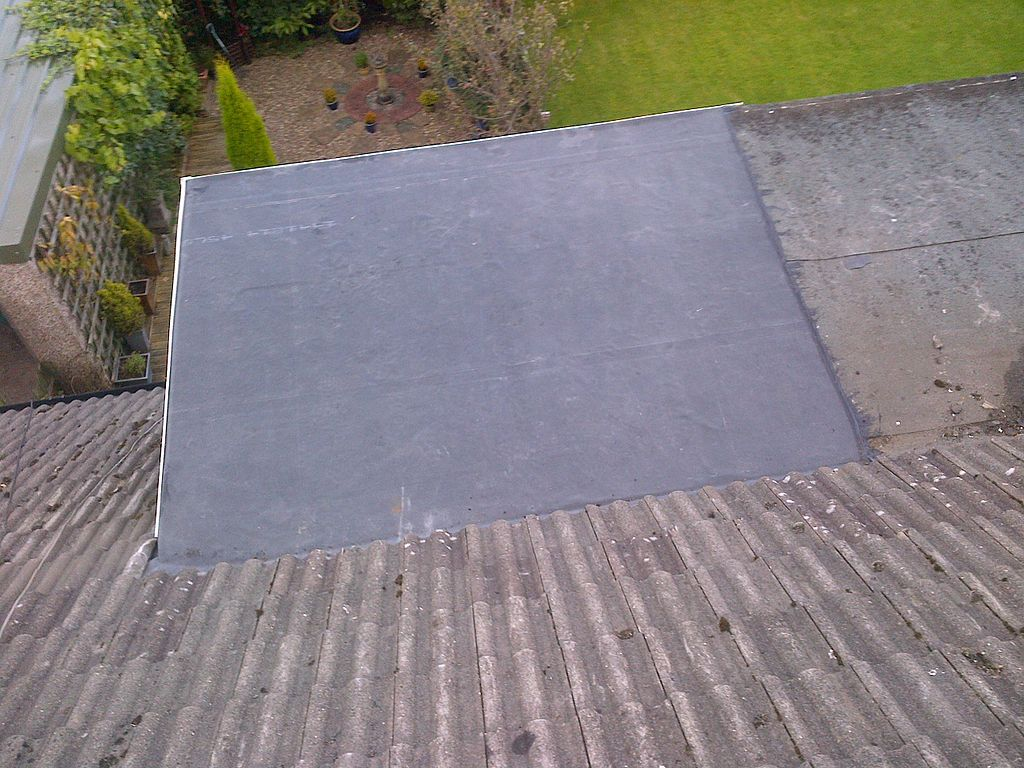 example of epdm roof mixed with traditional shingles