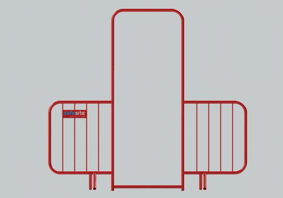Walk Through Pedestrian Gate Front