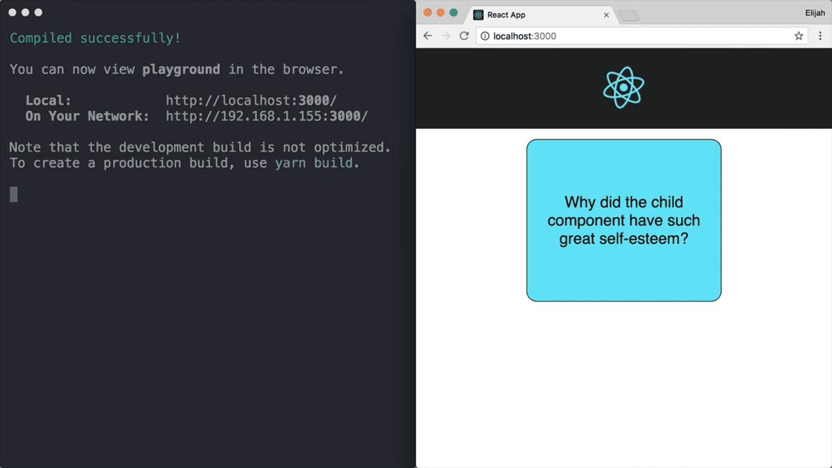 Screenshot of Terminal & Web App