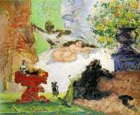 'A Modern Olympia' by Paul Cezanne, 1874 currently at Musée d'Orsay, Paris, France