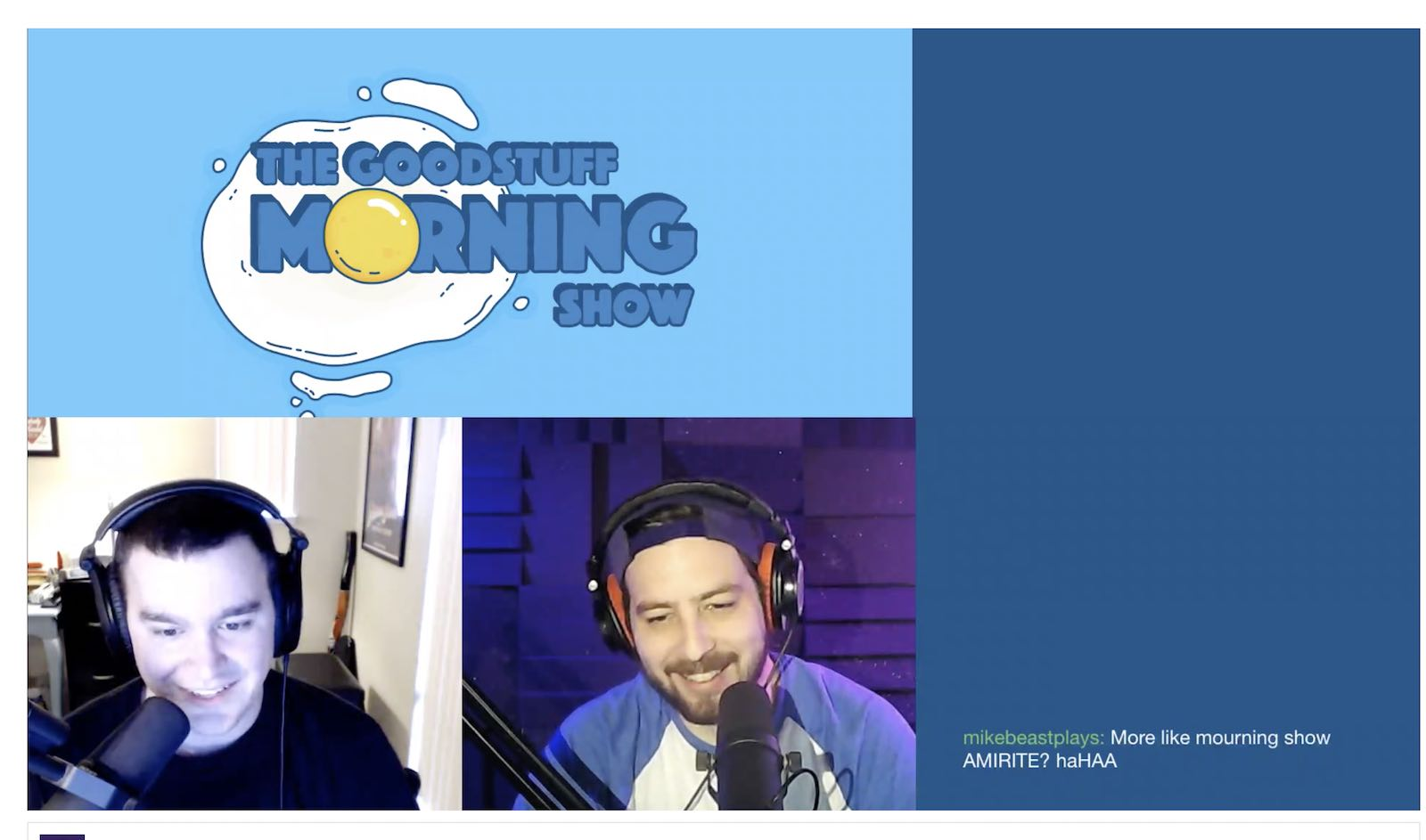 The Morning Show recording on Twitch live
